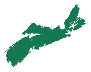 Karte von Nova scotia