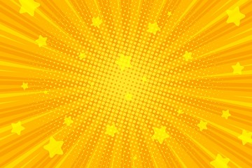 Retro comic background, pop art Radial rays