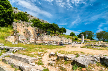 Ruins of the ancient city of Philippi in Greece