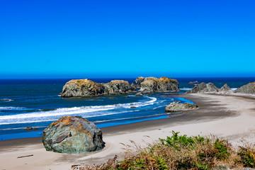 Deserted beach in Bandon Oregon