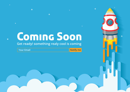 Coming soon website template. Coming soon landing page design. Coming soon page for a new website. We are launching soon – Illustration
