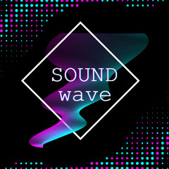 Dynamic fluid shape. Music waves.