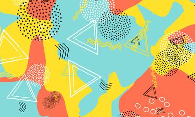 Dot Terracotta Art. Mustard Geometric Template.