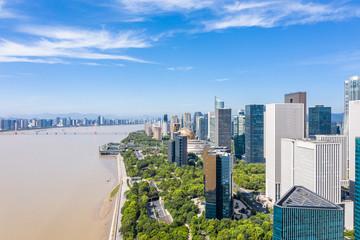 Wall Mural - panoramic city skyline in hangzhou china