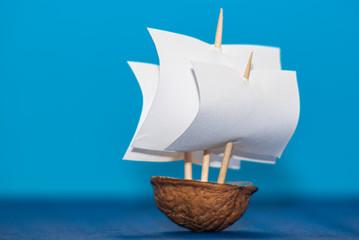 Threemaster on the High Seas