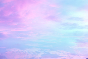 Beautiful soft pastel clouds sky background