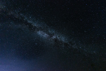 Poster Universe Milky way galaxy with stars and space in the universe background at thailand