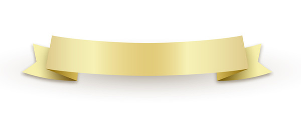 Golden ribbon with shadow