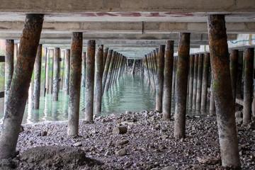 Underneath Newlyn Fish Quay