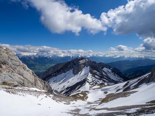 Gipfel des Pilatus mit Schnee