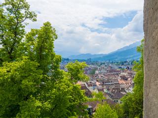 Blick auf Luzern vom Allenwindenturm