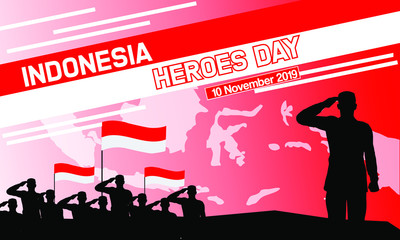 This is a picture about Hero's Day in Indonesia