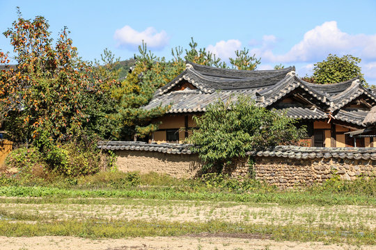Andong Hahoe Folk Village in Andong, South Korea. UNESCO world heritage.