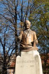 Sibiu, Romania - 5 Nov, 2019: George Bariț, Romanian historian, philologist, journalist, Astra Park, Sibiu, Sibiu County, Transylvania, Romania