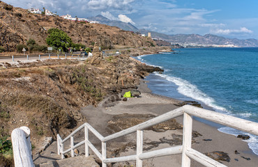 Zugang zum Strand in Torrox Costa