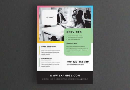 Simple Flyer Layout with Colored Frame