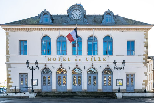 Honfleur in Normandy, the city hall in the center