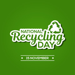 National Recycling Day Vector Design Template