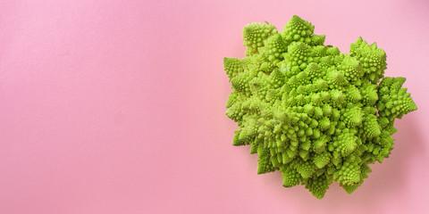 romanesco cauliflower cabbage (delicious vegetable, vitamins diet food) menu concept. food background. top view. copy space