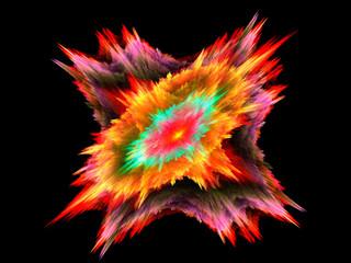 Multicolor beautiful fractal flower. Fractal artwork for creative design