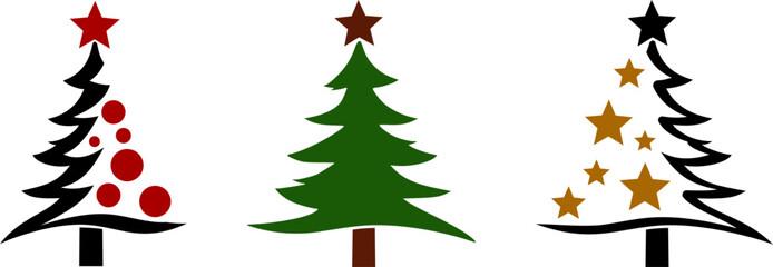 Fototapeta Christmas Tree Silhouette Vector isolated obraz
