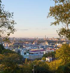 Wall Murals Kiev View Kyiv trees skyline Ukraine