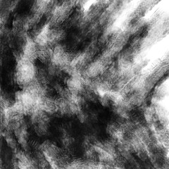 Scary skull abstraction cover. Black and white illustration in horror genre with coal and noise effect.