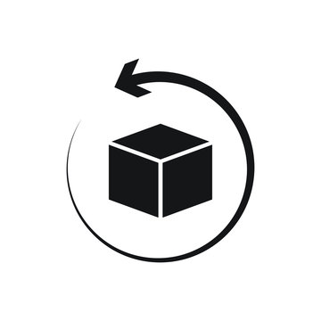 return package icon design isolated on white background. Vector illustration