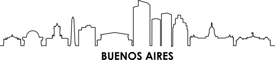Buenoes Aires City Vector Skyline Panorama Papier Peint