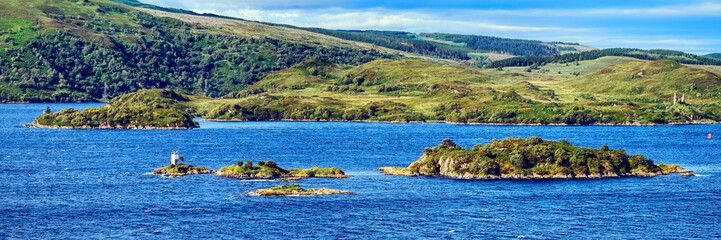 Eileanan Dubha, Loch Alsh, and the Isle of Skye in the Highlands