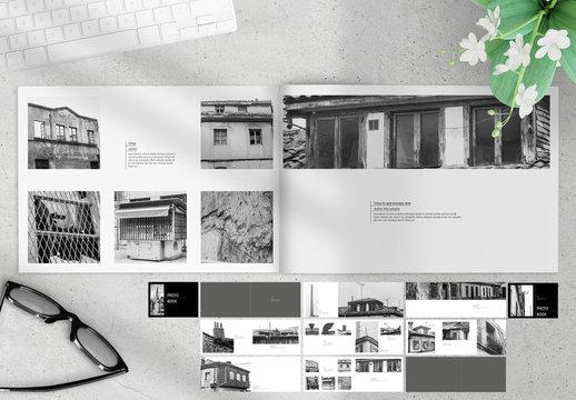 Black and White Photobook Layout