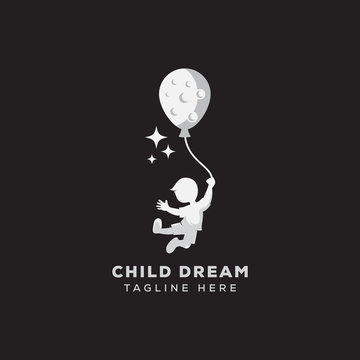 child dream logo, reaching logo template for your business