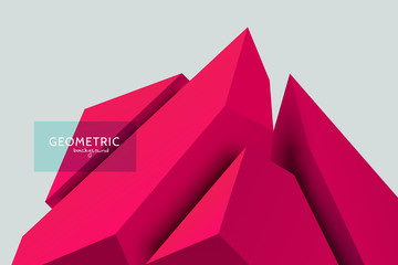 3D Geometric Divided Cube Background