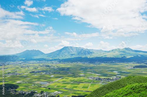 Wall mural 阿蘇 大観峰からの眺め