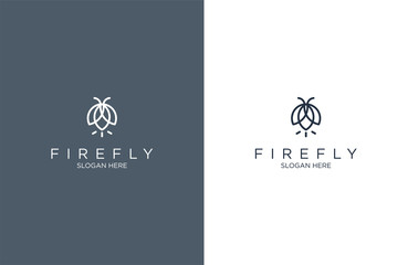 Awesome outline firefly logo design