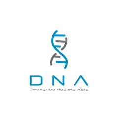 Abstract DNA logo design