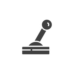 Lever control vector icon. filled flat sign for mobile concept and web design. Joystick lever glyph icon. Symbol, logo illustration. Vector graphics