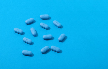 Pils of prescription PrEP Pills for Pre-Exposure Prophylaxis to help protect people from HIV..