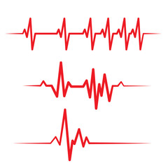 Set of health medical heartbeat pulse vector template