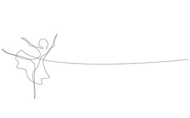 Ballet dancer, ballerina silhouette vector illustration