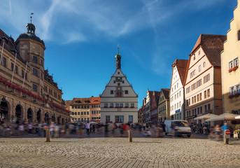 Main square of Rothenburg-ob-der-Tauber - Germany