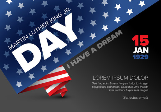 Martin Luther King jr. day poster template