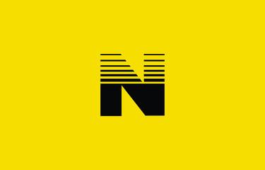 Initial based clean and minimal N Logo. N letter creative fonts monogram icon symbol. Universal elegant luxury alphabet vector design