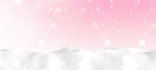 snowflakes snow pink rosa red white snowy sky - winter background banner long Fotoväggar