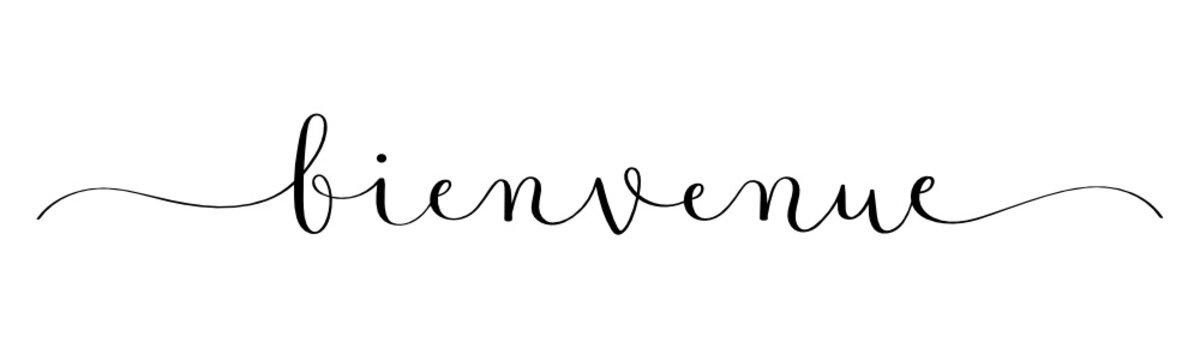 Calligraphie vecteur noir BIENVENUE