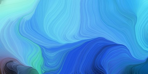 In de dag Abstract wave abstract colorful swirl motion. can be used as wallpaper, background graphic or texture. graphic illustration with corn flower blue, dark slate blue and royal blue colors
