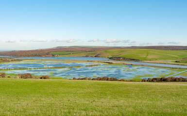 Flooded Cuckmere Haven South Downs