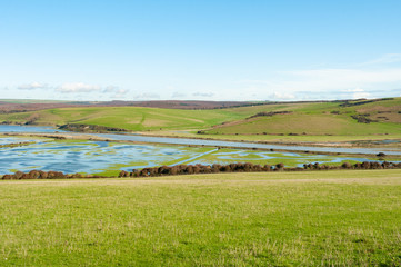 Flooded Cuckmere Haven meanders