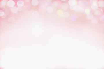 Beautiful pink bokeh background perfect for Valentines Day or Wedding Invitations. Free space for text.
