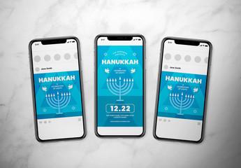 Hanukkah Event Social Media Layout Set
